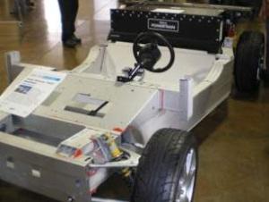 Tesla car chassis