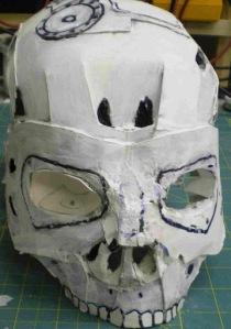 Paper craft Terminator skull