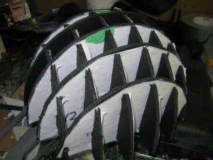 a dome out of foam board