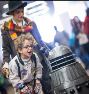 Dalek with fans