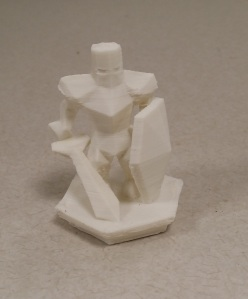 White Knight 3d printed