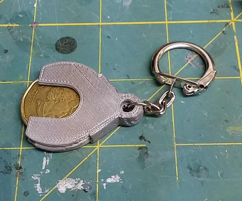 keychain holder for Canadian loonies