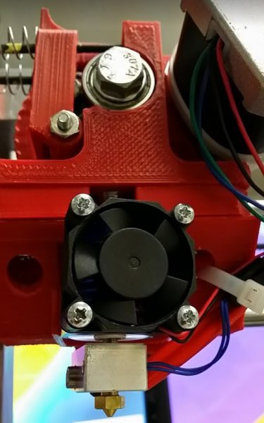 Close up of the extruder